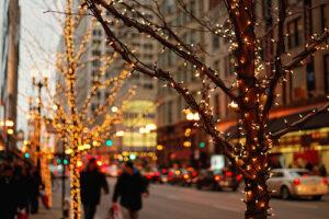kerstshoppen in londen sfeer